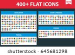large flat icons set. vector...