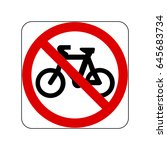 no bicycle sign  the traffic...