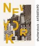 photo print new york... | Shutterstock . vector #645685690