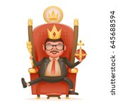 successful businessman cute... | Shutterstock .eps vector #645688594