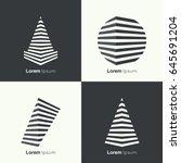 vector set of abstract... | Shutterstock .eps vector #645691204