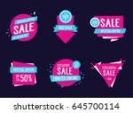 sale and special offer... | Shutterstock .eps vector #645700114