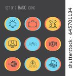 business management icons set.... | Shutterstock .eps vector #645701134