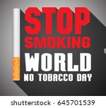no tobacco day   no smoking  ... | Shutterstock .eps vector #645701539