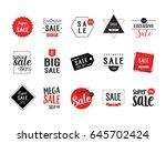 sale minimalistic lettering set | Shutterstock .eps vector #645702424