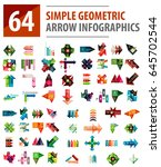 geometric arrow infographics ... | Shutterstock .eps vector #645702544