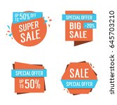 discount cards collection | Shutterstock .eps vector #645703210