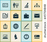 business icons set. collection... | Shutterstock .eps vector #645704848