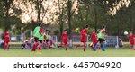 kids soccer football   young...   Shutterstock . vector #645704920