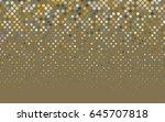 dark yellow vector banner with... | Shutterstock .eps vector #645707818