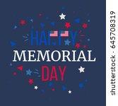 memorial day banner with... | Shutterstock .eps vector #645708319