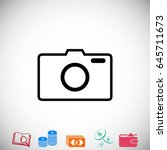photo camera vector icon  flat...