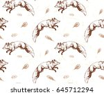 seamless pattern with hand... | Shutterstock .eps vector #645712294