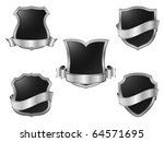 silver metal shields with...   Shutterstock .eps vector #64571695