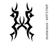 tattoo tribal vector design.... | Shutterstock .eps vector #645717469