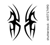 tribal tattoo art designs.... | Shutterstock .eps vector #645717490