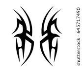 tattoo tribal vector designs.... | Shutterstock .eps vector #645717490