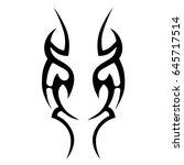 tribal tattoo art designs.... | Shutterstock .eps vector #645717514