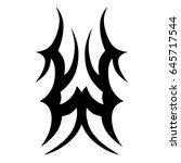 tattoo tribal vector design.... | Shutterstock .eps vector #645717544