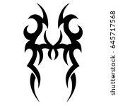 tattoo tribal vector design.... | Shutterstock .eps vector #645717568