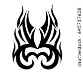 tattoo tribal vector design....   Shutterstock .eps vector #645717628