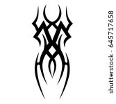 tattoo tribal vector design.... | Shutterstock .eps vector #645717658