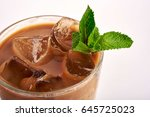 coffee or chocolate coctail... | Shutterstock . vector #645725023