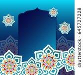 ramadan kareem greeting card | Shutterstock .eps vector #645727228