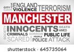 manchester terror attack   word ... | Shutterstock .eps vector #645735064