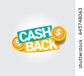 Vector Cash Back Icon Isolated...