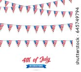 4th of july. decoration set of... | Shutterstock .eps vector #645749794