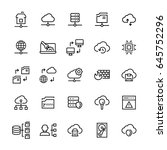 network hosting icon set in... | Shutterstock .eps vector #645752296