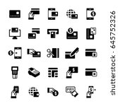 simple icon set of pay items in ...   Shutterstock .eps vector #645752326