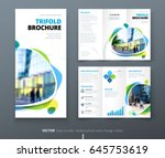 business tri fold brochure... | Shutterstock .eps vector #645753619