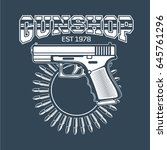 collection of gun club emblems | Shutterstock .eps vector #645761296