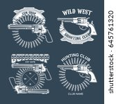 collection of gun club emblems | Shutterstock .eps vector #645761320