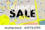 sale banner. summer sale up to... | Shutterstock .eps vector #645761590