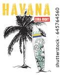 havana cuba tropical graphic... | Shutterstock .eps vector #645764560