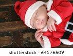 Cute Six Week Old Baby Santa...