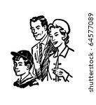 family of three   retro clipart ... | Shutterstock .eps vector #64577089
