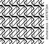 regularly repeating geometrical ... | Shutterstock .eps vector #645787264