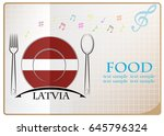 food logo made from the flag of ... | Shutterstock .eps vector #645796324