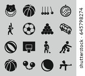 ball icons set. set of 16 ball... | Shutterstock .eps vector #645798274