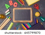 back to school background with... | Shutterstock . vector #645799870