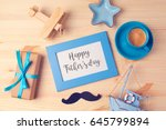 fathers day background with... | Shutterstock . vector #645799894