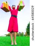 consumer shopper female   Shutterstock . vector #64580029