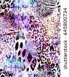 Purple Animal Mix   Seamless...