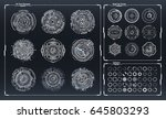 futuristic sci fi modern user...   Shutterstock .eps vector #645803293