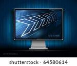 vector digital lcd monitor | Shutterstock .eps vector #64580614