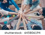 cropped topview of... | Shutterstock . vector #645806194